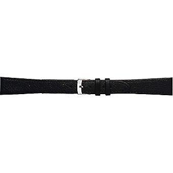 Morellato zwart lederen riem 19 mm A01K0753333019CR16 DUBLIN man
