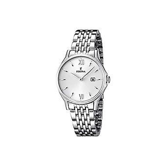 """ساعة اليد F16748 فيستينا-2 لنموذج المرأة """"القيقب الكلاسيكو""""، حركة الكوارتز التناظرية، الفولاذ المقاوم للصدأ"""