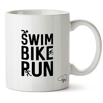Hippowarehouse плавать велосипед запустить напечатаны Кубка керамическая кружка 10oz