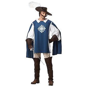 Musketeer Medieval Renaissance French Crusader Knight Mens Costume
