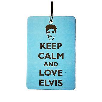 Gardez votre calme et aime Elvis Car Air Freshener