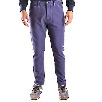 Stone Island Ezbc024022 Men's Blue Cotton Pants