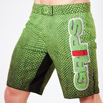 Grepen Atletiek Mens Green Snake strijd Shorts - groen