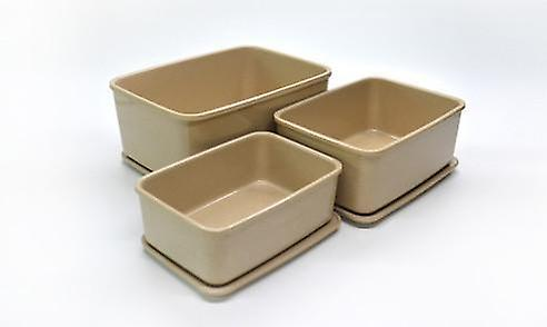OLPRO Husk Storage Containers 3 in 1 Recangular with Lids Microwave Safe