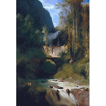 Gorge near Amalfi,Carl Blechen,60x40cm