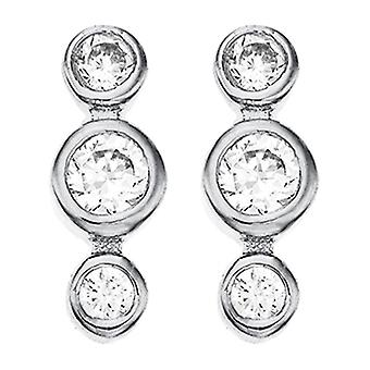 Ah! Jewellery Tri-Stoned Crystal Crystals From Swarovski Stud Earrings