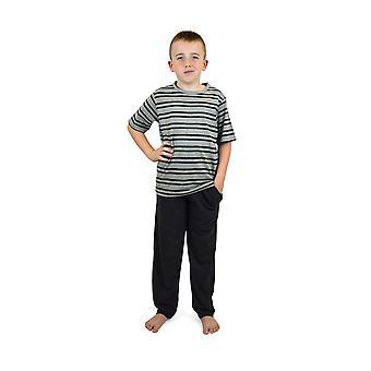 Ponožky Uwear Boys Letné pruhované top bavlnené dlhé pyžamo 5-6 rokov Drevené uhlie-čierne