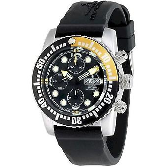 Zeno-watch mens watch airplane diver chronograph automatic 6349TVDD-3-a1-9