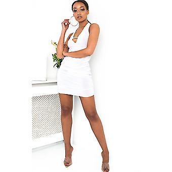 IKRUSH Womens Luna Slinky Bodycon Halterneck Dress