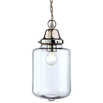 Firstlight-1 arte ligero techo colgante vidrio transparente, cromo-2348CH