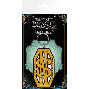 Fantastic Beasts and Where to Find Them Newt Scamander Logo Rubber Keyring
