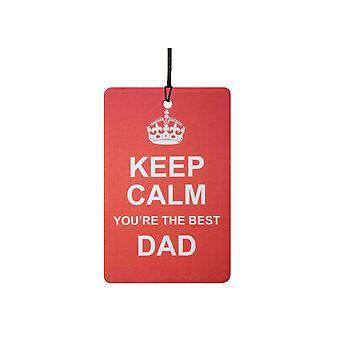 Keep Calm You're The Best Dad Car Air Freshener