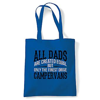 Finest Dads Drive Campervans, Tote - Motoring Reusable Shopping Canvas Bag