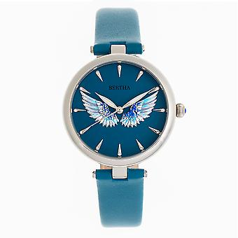 Bertha Micah Leather-Band Watch - Teal