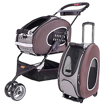 Ibiyaya 5-in-1 Multifunktions Combo EVA Pet Carrier/Stroller - braun