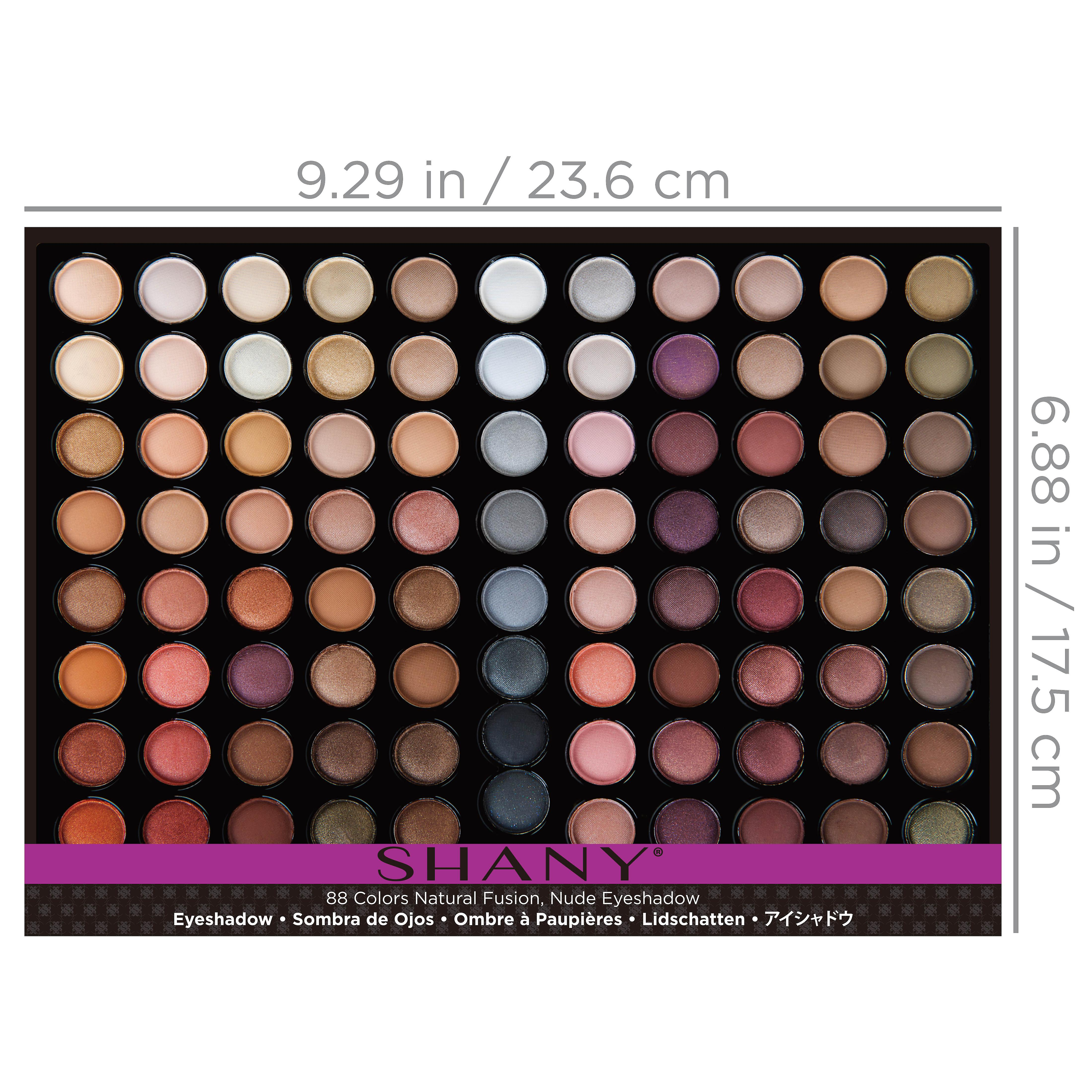 SHANY Natural Fusion - 88 Color Eye shadow Palette - Nude
