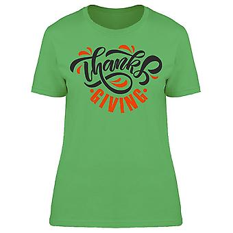 Thanksgiving Typography Tee Women's -Image by Shutterstock