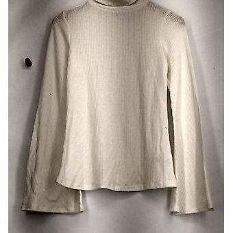Xhilaration Sweater Turtleneck with Long Sleeves Ivory Womens