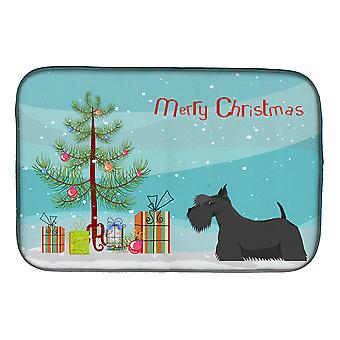 Carolines Treasures  CK3560DDM Scottish Terrier Christmas Tree Dish Drying Mat