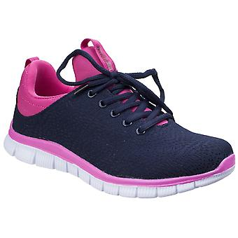 Frota e Foster Mulheres Pompei Summer Shoe Navy