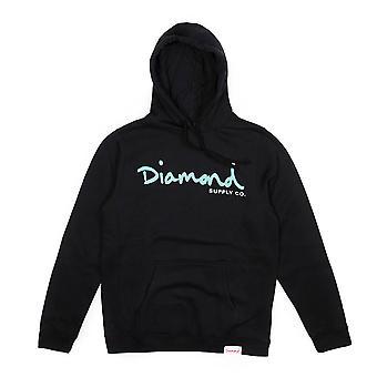 Diamond fuente Co OG Script base con capucha negro