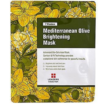 Leaders Insolution 7 Wonders Mediterranean Olive Brightening Masque 1 Feuille