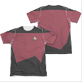 Star Trek TNG komento kaksipuolinen puku punainen Sublimoituminen t-paita