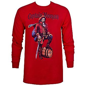 Chemise rouge à manches longues Captain Morgan
