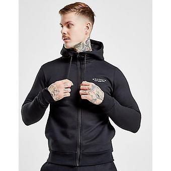 New McKenzie Men's Essential Zip Through Hoodie Black