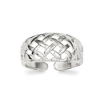 925 Sterling Sølv Solid Gitter Tå Ring Smykker Gaver til kvinner - 1,9 Gram