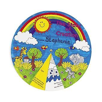 12 berättelsen om skapelsen färg i hjulet för barn söndag skola Kyrkslöjd