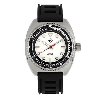 Shield Dreyer Men's Diver Strap Watch - Silver