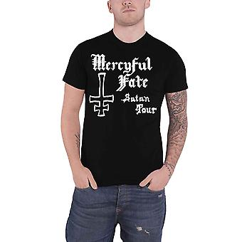 Mercyful Fate T Shirt Satan Tour 1982 Band Logo new Official Mens Black