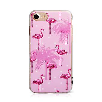 Printed Ostrich Pink iPhone SE / 8 / 7 / 6 Case