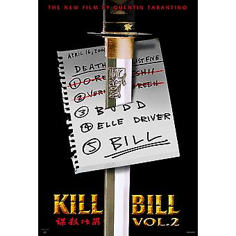 Kill Bill Vol. 2 (Single Sided Advance) (2004) Oryginalny plakat kinowy