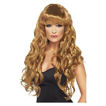 Mujer sirena peluca marrón disfraces accesorios