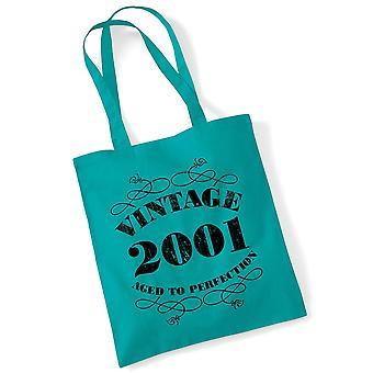 18th Birthday Tote Bag Vintage 2001 Novelty Birthday Gifts