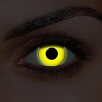 i-Glow Yellow UV Contact Lenses (Pair)