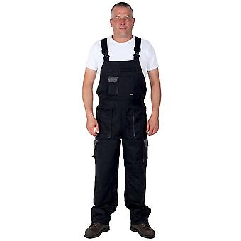 Portwest texo contrast work dungarees - black