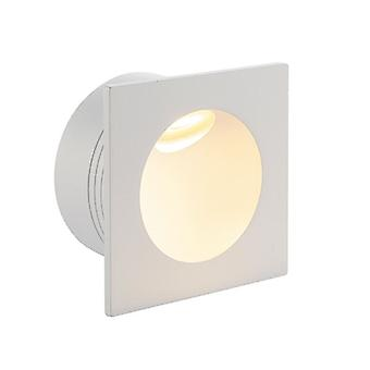 Saxby Lighting Hester Integrated LED 1 Light Outdoor Recessed Light Textured Matt White, Glass IP65 79193