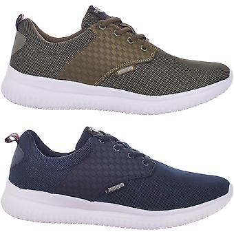 Lambretta Mens Pulse Casual Sports Lace Up Trainers Sneakers Shoes