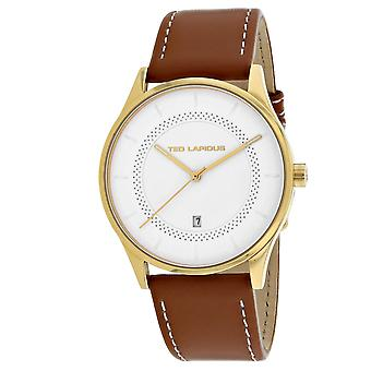 Ted Lapidus Men's Classic White Dial Watch - 5131907
