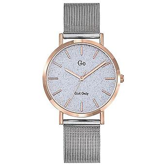 Watch Go Girl Only 695937 - Silver Steel Milanese Shiny Glass Dor Rose Women