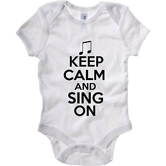White newborn body wtc0138 keep calm and sing on