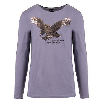 Men's Longsleeve Eagle Motif Reversible Sequins Shirt Sweater Round Neck Jersey