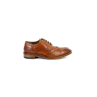 Kensington Classics Mens All Leather Wing Cap Brogue Gibson Shoes