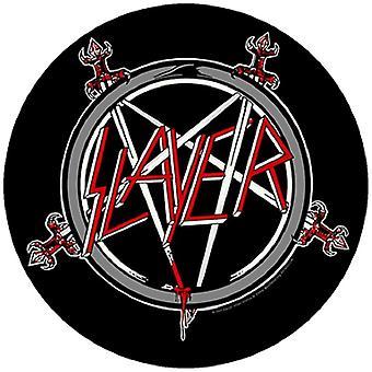 Slayer Back Patch Pentagram Band logo new Official circular black 28 cm