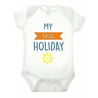 First holiday short sleeve babygrow