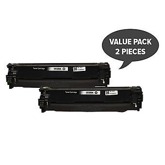2 x CE320 128A Black Premium Generic Toner