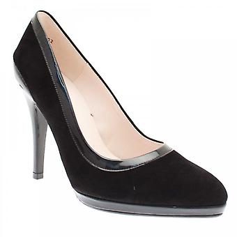 Peter Kaiser Henrike Black Suede Plate-forme High Court Shoe
